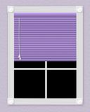 Ventana púrpura Fotos de archivo libres de regalías