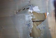Ventana plástica quebrada Foto de archivo
