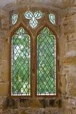 Ventana plomada vieja de la abadía Fotos de archivo