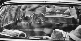 Ventana posterior clásica de Mercedes 280 S foto de archivo