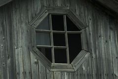 Ventana quebrada de madera del viejo vintage imágenes de archivo libres de regalías