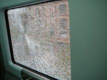 Ventana quebrada del tren imagen de archivo libre de regalías