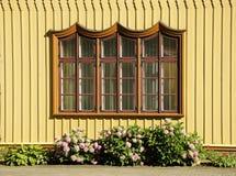 Ventana rústica adornada Imagen de archivo libre de regalías