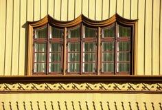 Ventana rústica adornada Foto de archivo libre de regalías