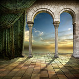 Ventana romántica Imagenes de archivo