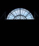 Ventana semicircular hecha excursionismo Foto de archivo libre de regalías