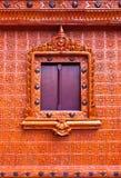 Ventana tailandesa del estilo en templo Imagen de archivo libre de regalías
