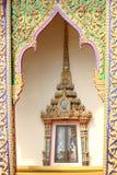 Ventana tailandesa del estilo tradicional Fotos de archivo
