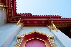 Ventana tailandesa del templo del buddhism del estilo Fotos de archivo libres de regalías
