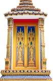 Ventana tailandesa hermosa del templo Imágenes de archivo libres de regalías