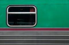 Ventana tailandesa vieja del tren Fotografía de archivo libre de regalías