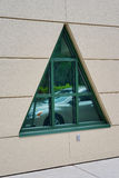 Ventana triangular Fotografía de archivo