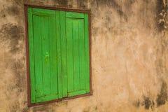 Ventana verde (vintage procesado imagen filtrado e Fotografía de archivo libre de regalías