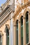 Ventana vertical y pared decorativa Imágenes de archivo libres de regalías