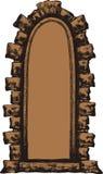 Ventana vieja con una arcada de piedra, mano-dibujo Illustrati del vector Imágenes de archivo libres de regalías
