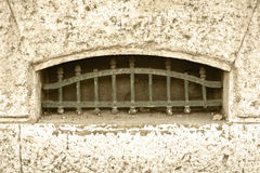 Ventana vieja del sótano Imagen de archivo libre de regalías