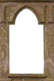 Ventana vieja en blanco del castillo Imágenes de archivo libres de regalías