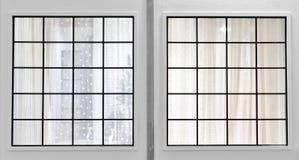 Ventana y cortina imágenes de archivo libres de regalías