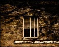 Ventana y ladrillo de Grunge Fotografía de archivo
