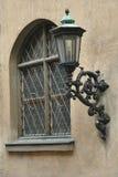 Ventana y linterna en el palacio de Residenz en Munich, Alemania Imagen de archivo libre de regalías