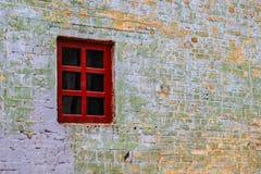 Ventana y pared de ladrillo Fotografía de archivo