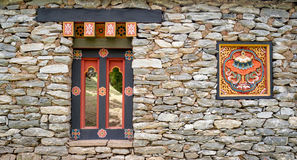 Ventana y símbolo del estilo de Corea Imagen de archivo libre de regalías