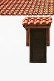 Ventana y tejado exteriores Imágenes de archivo libres de regalías
