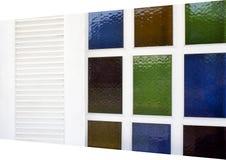 Ventana y vidrio manchado Fotografía de archivo