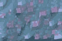 Ventanas abstractas que flotan en el espacio como portales que viajan del tiempo stock de ilustración