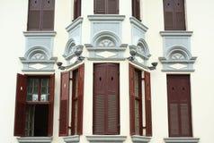 Ventanas arquitectónicas occidentales Foto de archivo libre de regalías