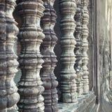 Ventanas Camboya del templo de Angkor Wat Imágenes de archivo libres de regalías