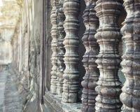Ventanas Camboya del templo de Angkor Wat Fotografía de archivo