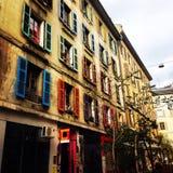 Ventanas coloridas Imágenes de archivo libres de regalías
