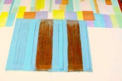 Ventanas coloridas Imagen de archivo libre de regalías