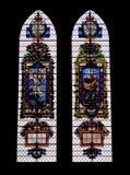 Ventanas de cristal coloreadas en la catedral de Salisbury Imagen de archivo libre de regalías