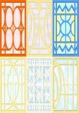 Ventanas de cristal de colores. Stock de ilustración