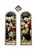 Ventanas de cristal de la mancha de óxido religiosa Foto de archivo