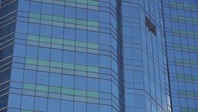 Ventanas de cristal del rascacielos del primer, distrito de los edificios del negocio, comercio global