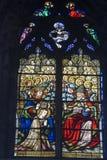 Ventanas de cristal manchadas de la iglesia Fotografía de archivo libre de regalías
