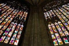 Ventanas de cristal manchadas grandes Fotografía de archivo libre de regalías