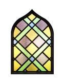 Ventanas de cristal multicoloras stock de ilustración