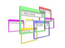 ventanas de hojeador de Internet 3d Imagen de archivo