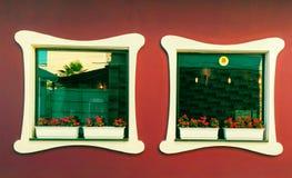 Ventanas de la arquitectura Fotografía de archivo