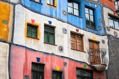 Ventanas de la casa de Hundertwasser Foto de archivo libre de regalías