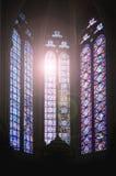 Ventanas de la catedral Imagen de archivo libre de regalías