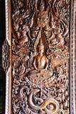 Ventanas de madera decorativas en la iglesia Imagen de archivo libre de regalías