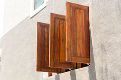 Ventanas de madera viejas Imagenes de archivo
