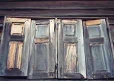 Ventanas de madera viejas Fotografía de archivo