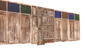 Ventanas de madera viejas del aislante Imagenes de archivo