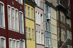 Ventanas de Nyhavn Imágenes de archivo libres de regalías